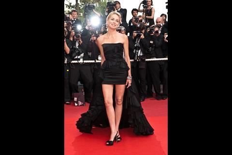 """Actress Sharon Stone arrives at the premiere of """"Inglorious Basterds"""" at the 62nd Cannes Film Festival in Cannes."""